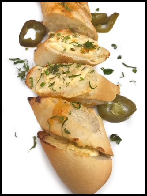 Jalapeño, Cream Cheese & Spicy Mexican Cheese Garlic Bread
