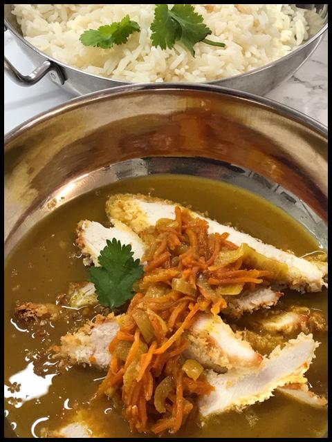 Crispy Baked Chicken Katsu Curry on Rice