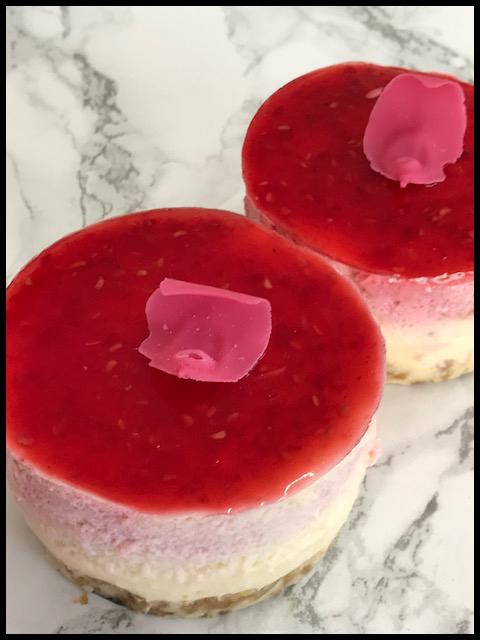 Raspberry & White Chocolate Mousse Cakes