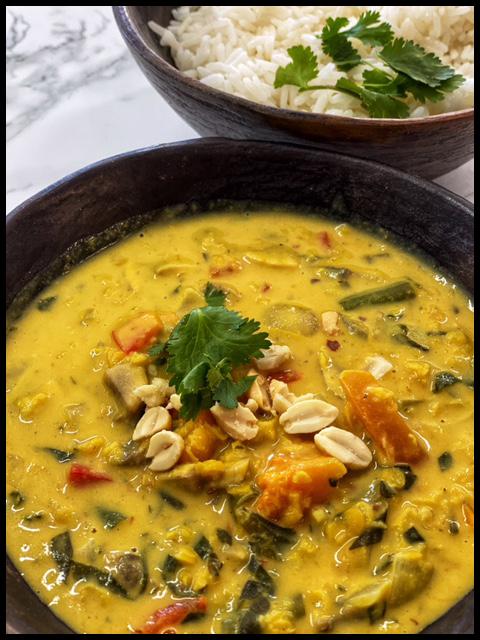 African Butternut Lentil & Peanut Stew