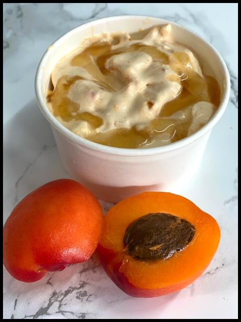 Roasted Fresh Apricot & Honey Ice Cream